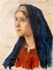 Голова Марии.Этюд к картине
