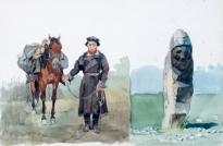 Карым-подпасок. Каменная баба. 1873.