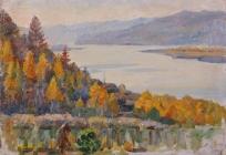 Енисей у Красноярска. 1909.