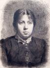 Портрет Е.А.Суриковой, жены художника.Конец 1870 - начало 1880-х.