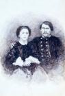 Е.И.Сурикова (Виноградова) с мужем С.В.Виноградовым.1894.