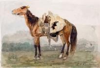 Оседланный конь.1873.