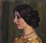 Портрет Евгении Пемовой (Пемонян). 1912.