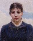 Портрет Е.А.Суриковой, жены художника. 1880-е.