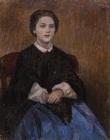 Портрет Е.И.Суриковой (Виноградовой), сестры художника. 1914.