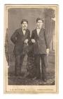 В.И. Суриков с братом А.И. Суриковым в юности. 1873 г.
